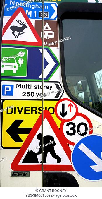 Colourful Road Signs, UK