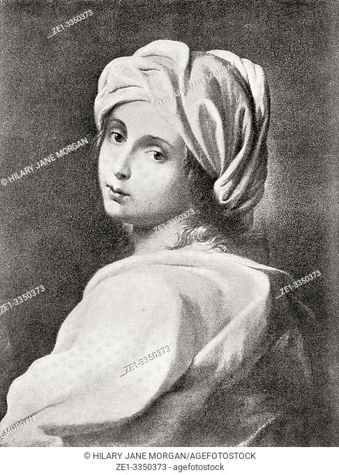 """Beatrice Cenci, 1577 â. """" 1599. Young Roman noblewoman who murdered her father, Count Francesco Cenci. She was condemned and beheaded for the crime in 1599"""
