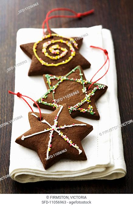 Chocolate Christmas biscuits