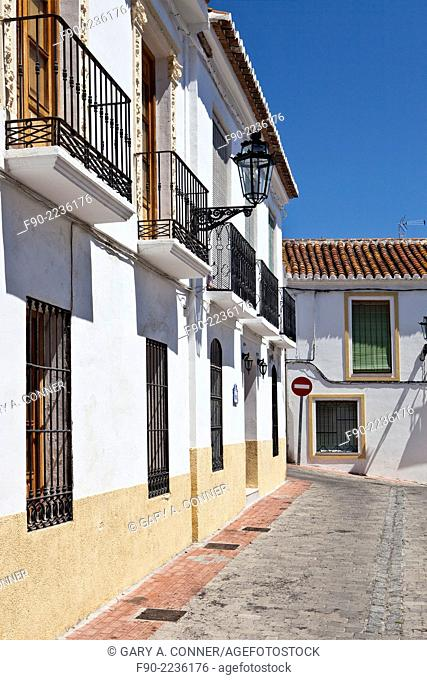Typical buildings. midday. Old Quarter. Salobrena. Spain