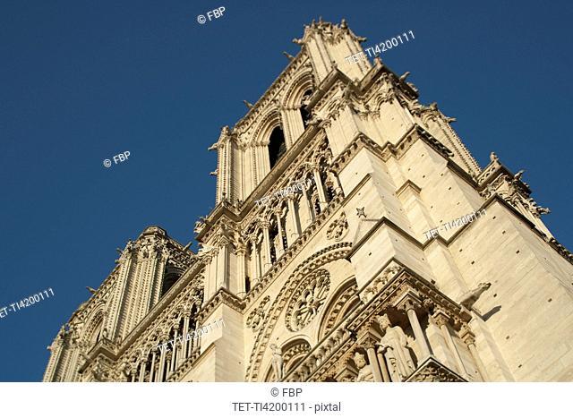 France, Paris, Notre Dame exterior