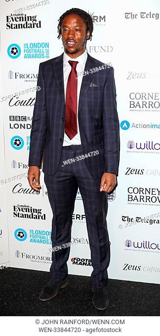 2018 London Football Awards at Battersea Evolution Featuring: Romaine Sawyers Where: London, United Kingdom When: 01 Mar 2018 Credit: John Rainford/WENN
