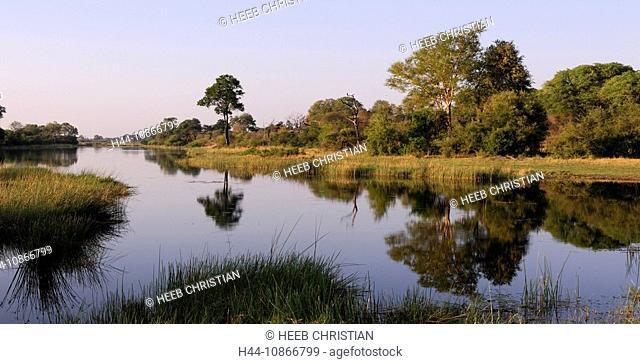 Long Lagoon, Kwando River, Bwabwata, National Park, Susuwe Island Lodge, Caprivi, Namibia, Africa, Travel, Nature