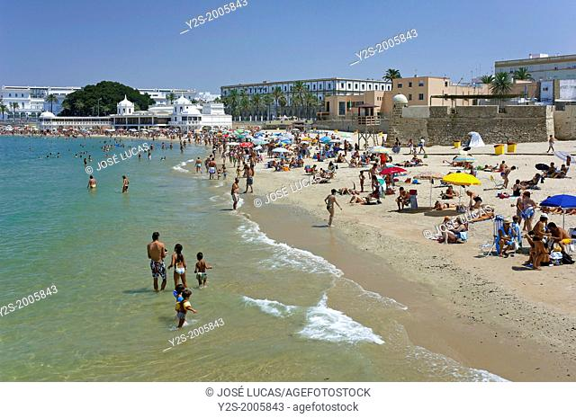 La Caleta beach, Cadiz, Region of Andalusia, Spain, Europe