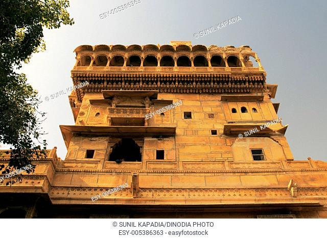 Mansion known Salim Singh haveli made of sandstones over 300 years ago ; Jaisalmer ; Rajasthan ; India