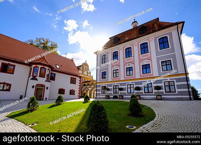 Castle Leitheim, Kaisheim, district Donau-Ries, Swabia, Bavaria, Germany