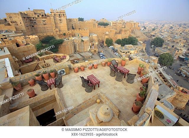 Restaurant on the bastion of Jaisalmer Fort, Jaisalmer, India