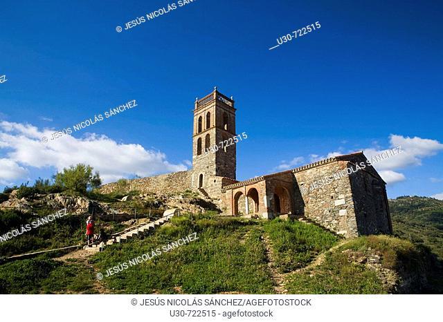Castle and mosque-church of Nuestra Señora de la Concepcion, Almonaster la Real, Sierra de Aracena y Picos de Aroche Natural Park