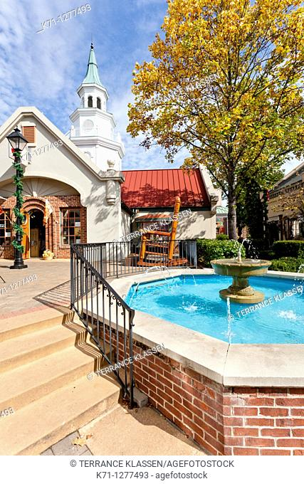 The shops and stores at the Grand Village Shopping Center in Branson, Missouri, USA