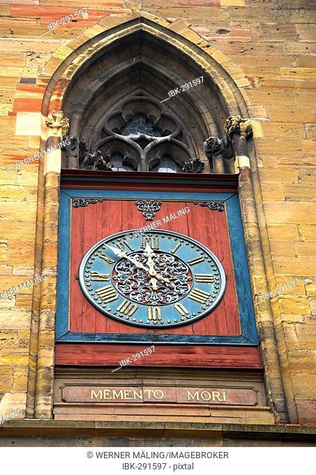 Church-clock at Colmar Minster, Colmar, Alsace, France