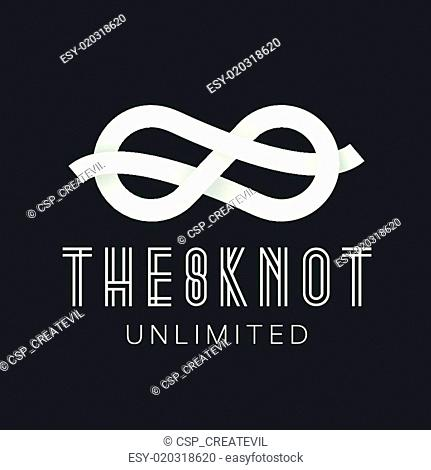 Figure Eight Knot Abstract Vector Concept Symbol Icon