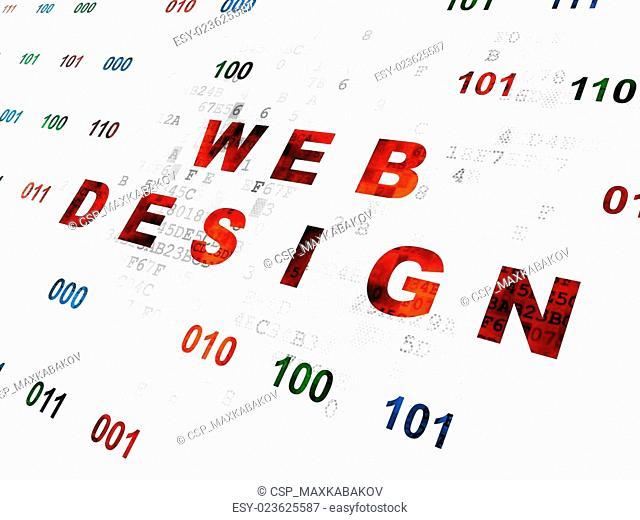 Web design concept: Web Design on Digital background