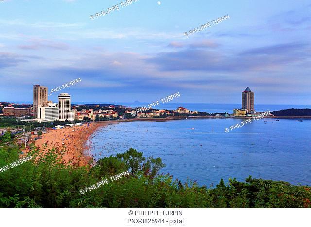 Asia, China, Shandong Province, Qingdao. Huiquan Bay, Beach Number 1