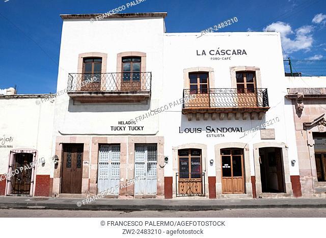 Urban mexican architecture in downtown. Zacatecas, ZAC. Mexico