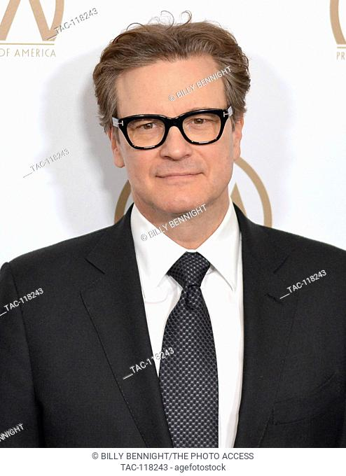 Colin Firth arrives at the 28th Annual Producers Guild Awards at The Beverly Hilton Hotel in Beverly Hills, California on January 28, 2017