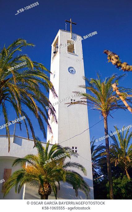 Church, Poblenou del Delta, Tarragona Province, Catalonia, Spain
