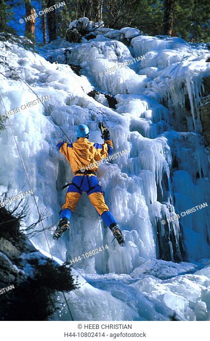 Alberta, Canada, North America, America, climbing, frozen, ice, Ice climbings, Jasper, national park, Malignantly Ca