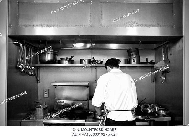 Restaurant chef at work