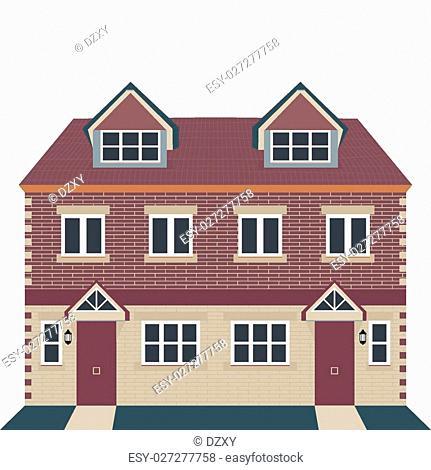 Vector Illustration - Georgian House Style