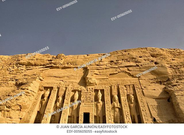 Queen Nefertari Temple in Abu Simbel, Egypt