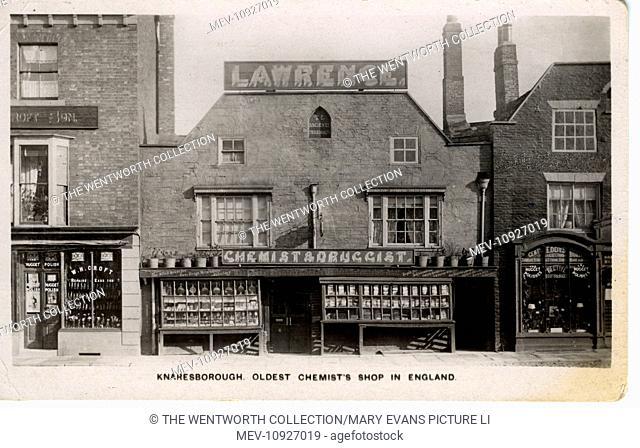 Oldest Chemist's Shop in England, Knaresborough, near Harrogate, Yorkshire, England