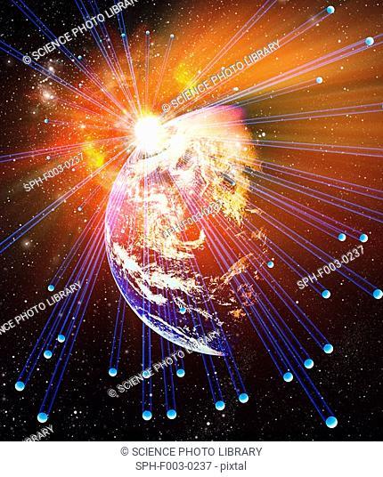 Neutrinos, conceptual image