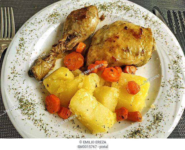 Chicken with veggies