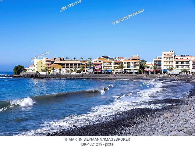Beach in La Playa, Valle Gran Rey, La Gomera, Canary Islands, Spain