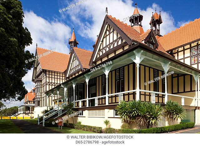 New Zealand, North Island, Rotorua, Rotorua Museum, museum in former 1908 bathhouse, exterior