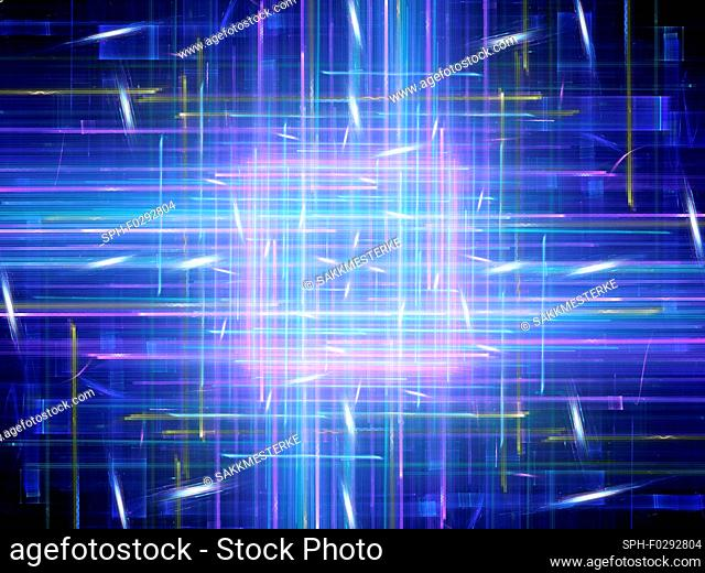 New technology, abstract illustration