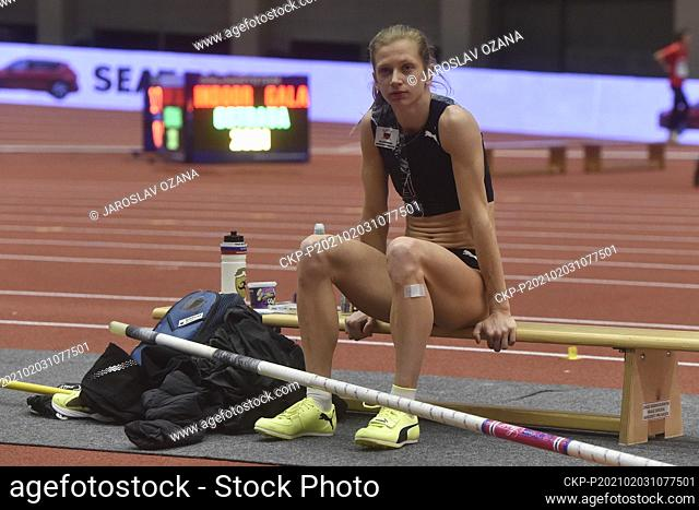 TINA SUTEJ of Slovenia in action during the Czech Indoor Gala international indoor athletic event - pole vault women - in Ostrava, Czech Republic, February 3
