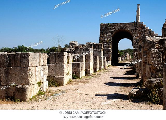 Grandstand at the Hippodrome , Al Bass site , Tyre Sour, UNESCO World Heritage Site  Lebanon