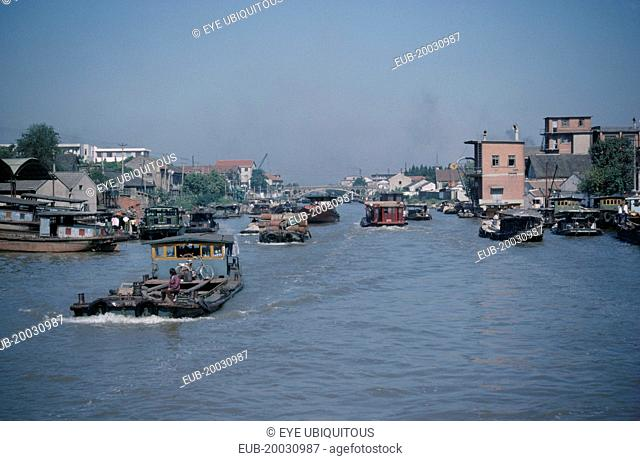 River transport on the Grand Canal from Suzhou to Wuxi