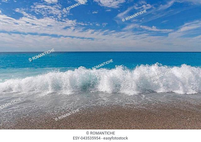 beach in Nice at summer day, French Rivera