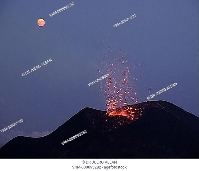 Volcanic eruptions on Mt. Etna, Sicily, Italy