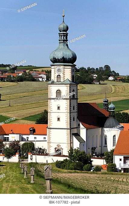 Pilgrimage church Neukirchen bei Heilig Blut , Upper Palatinate , Bavaria Germany