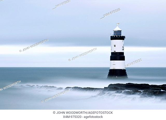 A view toward Penmon Point lighthouse in Wales