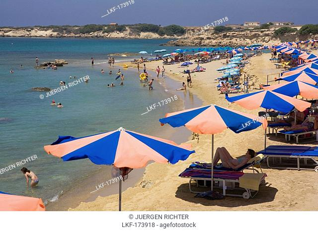 Corallina beach, Coral Bay, Paphos area, South Cyprus, Cyprus