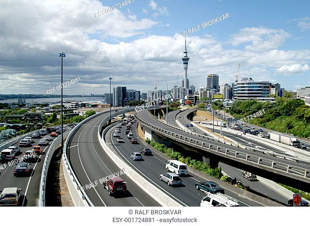 Rush Hour In Auckland, New Zealand