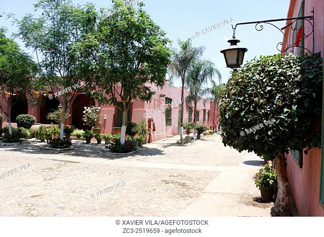 Entrance courtyard of the vineyard of Tacama. In the decade of the 1540 s Francisco de Carabantes created The Tacama Vineyard, which is the oldest in Peru