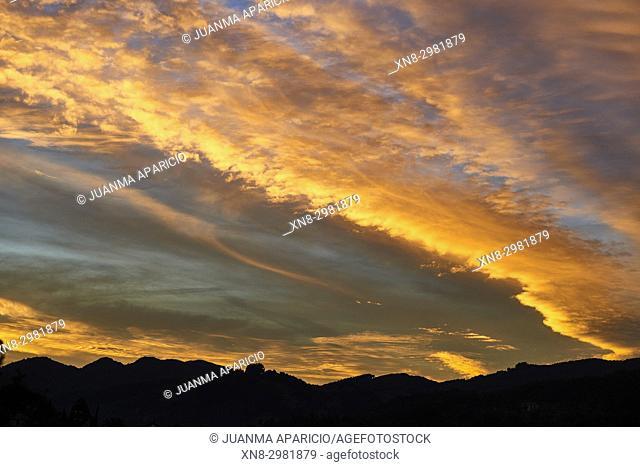 Sunset, Cantabria, Spain, Europe