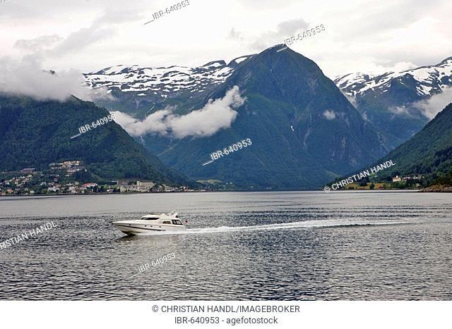 Sognefjord near Vangsnes, Norway, Scandinavia, Europe