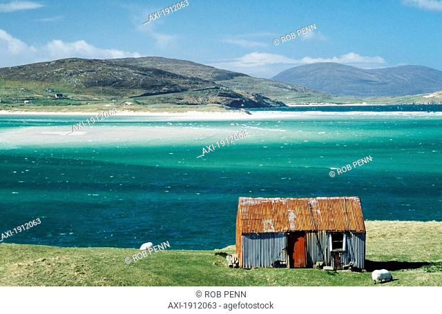Hut On West Coast Of Isle Of Harris,Losgaintir,Scotland