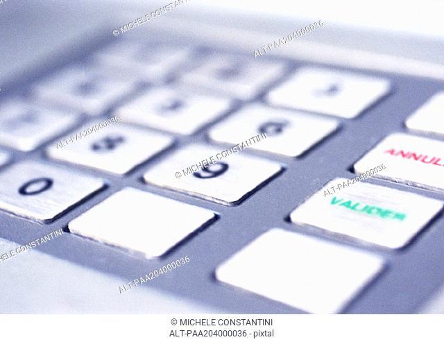 ATM machine keyboard, close-up