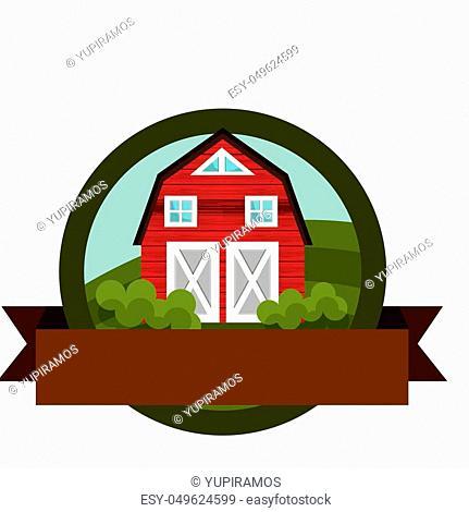 stable farm product emblem vector illustration design
