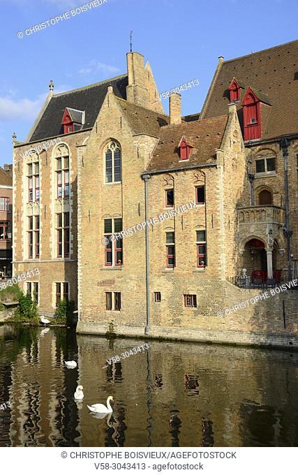 Belgium, Bruges, World Heritage Site, Rozenhoedkaai (Rosary quay)