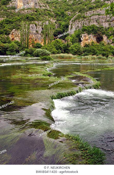 Roski Slap waterfall and cascades, Croatia, Krka National Park