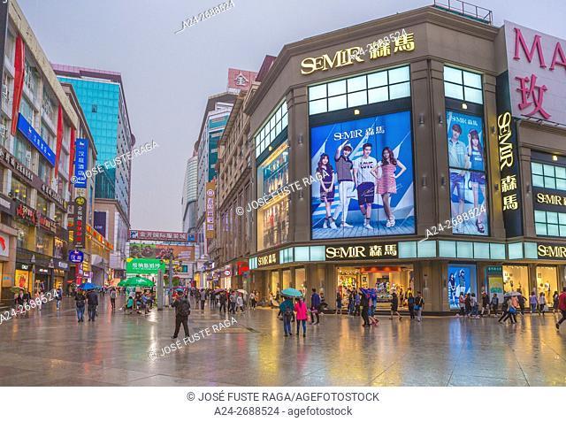 China, Sichuan Province, Chengdu City, Chuynxi Shopping district