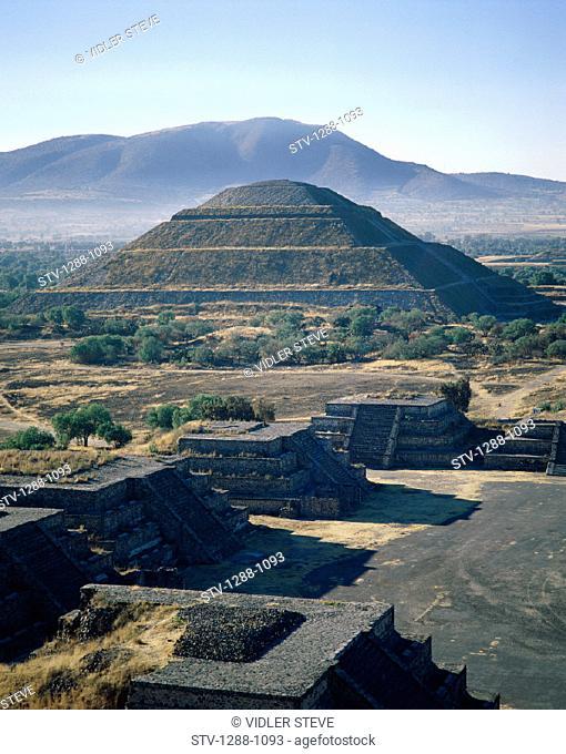 Ancient, Holiday, Landmark, Mexico, Pyramid, Pyramid of the sun, Ruins, Sun, Temple, Teotihuacan, Tourism, Travel, Vacation