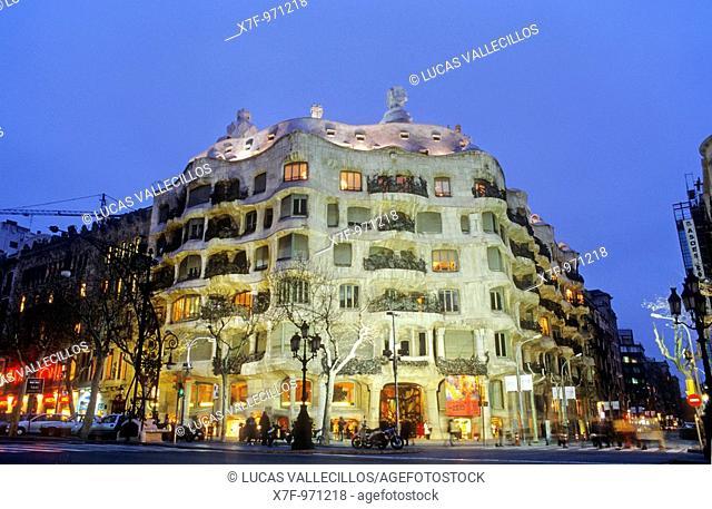 Barcelona: Casa Milà aka `La Pedrera', 1906-1912 by Gaudí